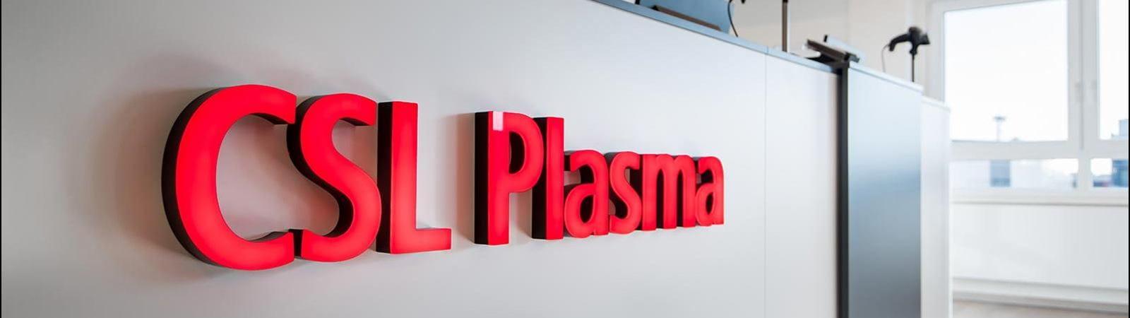CSL Plasma collection center lobby